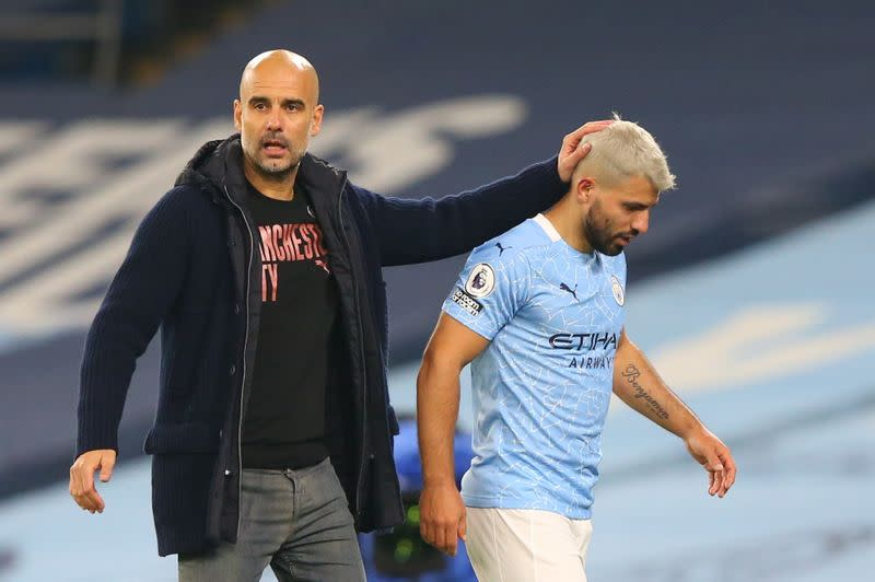 Man City's Aguero must show he deserves new contract: Guardiola
