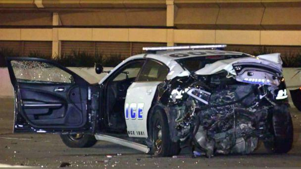 PHOTO: A Dallas police officer died after being struck by a suspected drunk driver near North Central Expressway at Walnut Hill Lane Saturday morning. (WFAA)