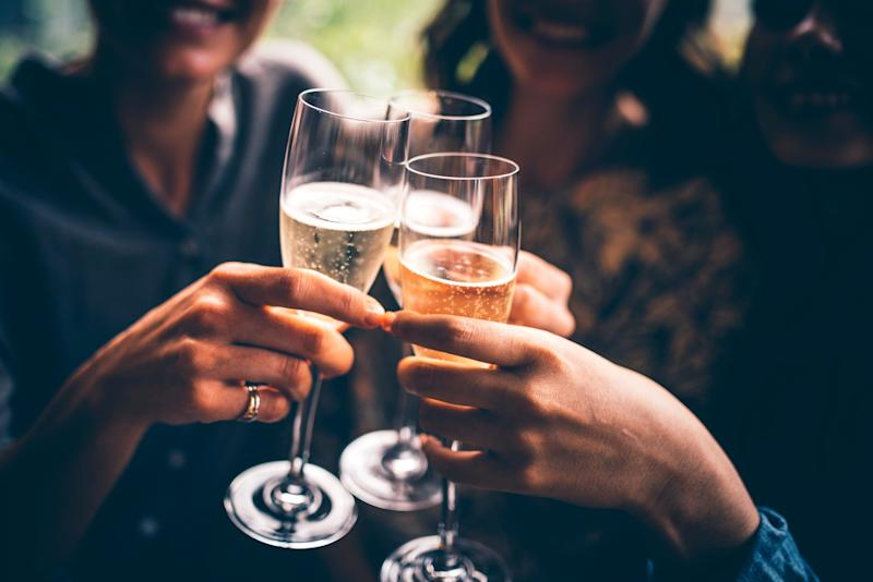 """Of course, you'll probably want&nbsp;<a href=""""http://www.livestrong.com/article/328318-calories-in-moet-champagne/"""" target=""""_blank"""">a little more than 3.4 ounces</a>, so keep that in mind."""