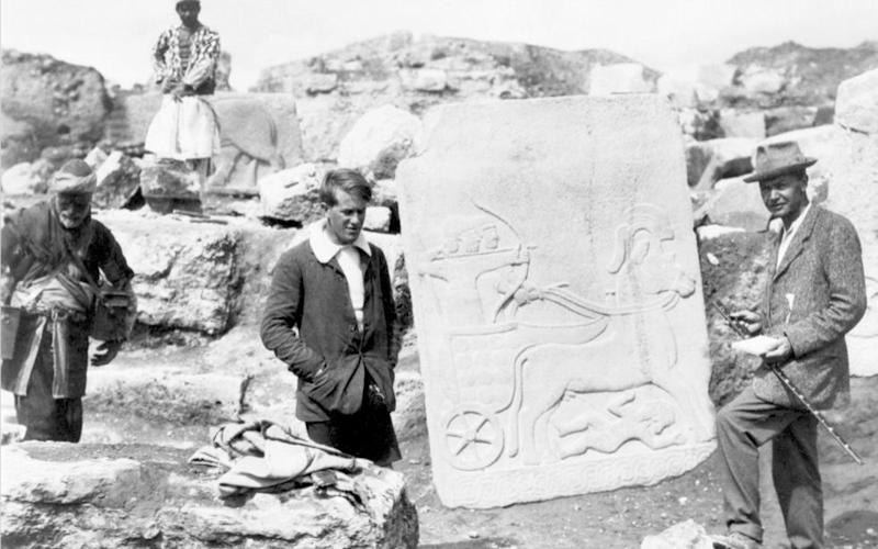 TE Lawrence at Carchemish - Credit: Unknown/Wikipedia