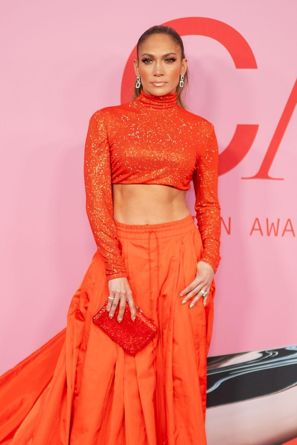 "<p>J.Lo has one of the most recognizable bodies in the industry, but it requires serious upkeep. The singer/actress doesn't work out alone, though—her fiancé Alex Rodriguez joins and they use <a href=""https://www.womenshealthmag.com/fitness/a28208273/jennifer-lopez-butt-alex-rodriguez-dallas-cowboys-workout/"" rel=""nofollow noopener"" target=""_blank"" data-ylk=""slk:FitPlan app"" class=""link rapid-noclick-resp"">FitPlan app</a> to stay toned. Lemme say: It. Is. Working.</p>"