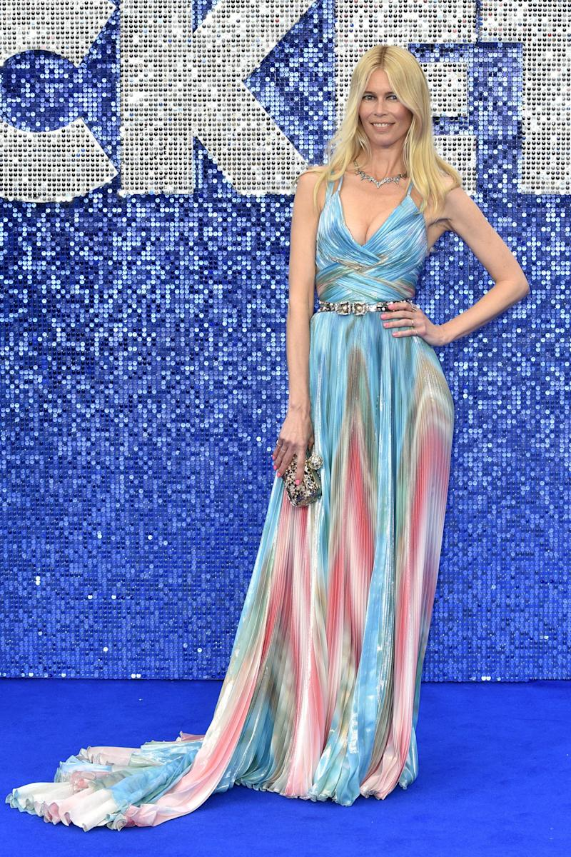 ODEON LUXE LEICESTER SQUARE, LONDON, UNITED KINGDOM - 2019/05/20: Claudia Schiffer seen during the Rocketman UK Premiere at the Odeon Luxe Leicester Square in London. (Photo by James Warren/SOPA Images/LightRocket via Getty Images)