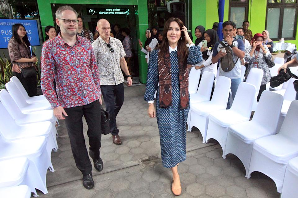 Mary visited a community health centre in Yogyakarta, Indonesias part of her royal tour of Indonesia. Photo: AAP