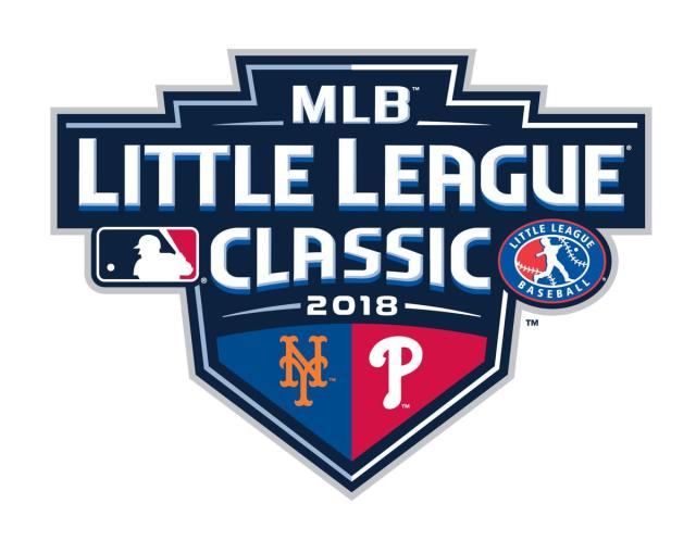 MLB has announced that the Mets and Phillies will play in the 2018 Little League Classic. (Twitter/@MLBPR)