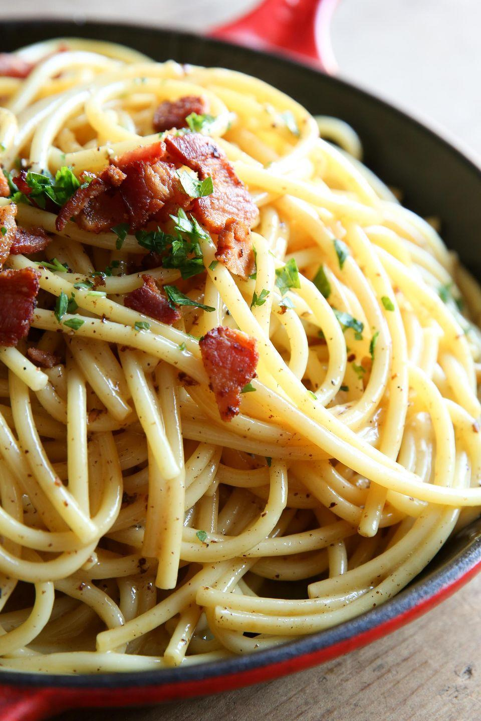 """<p>White cheddar is here to blow your mind.</p><p>Get the recipe from <a href=""""https://www.delish.com/cooking/recipe-ideas/recipes/a51162/cheddar-carbonara-recipe/"""" rel=""""nofollow noopener"""" target=""""_blank"""" data-ylk=""""slk:Delish"""" class=""""link rapid-noclick-resp"""">Delish</a>.</p>"""