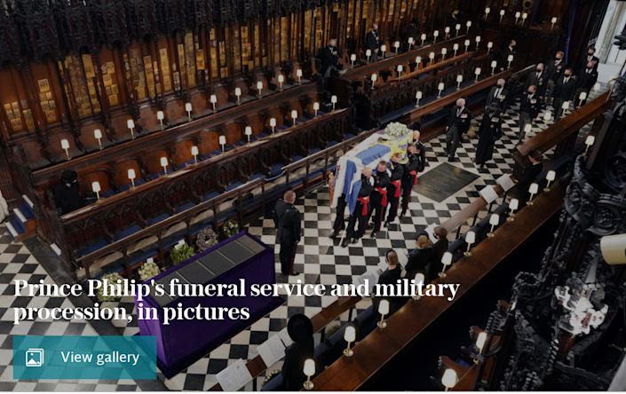 Prince Philip's funeral and military procession in pictures