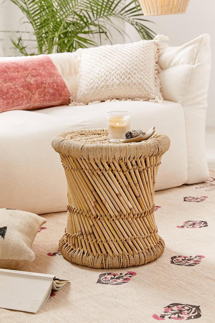 """<h3><strong>Urban Outfitters</strong></h3> <br><br><strong>Best For: Boho-Style Furniture<br></strong>The oh-so boho retailer's home section is perfect for tiny spaces and apartments. From storage that's as pretty as it is functional to lightweight tables and chairs perfect for tiny corners, you'll find lots of innovative ways to stash your stuff. You'll also find amazing textiles, from wall hangings to duvet covers, that will give any room an eclectic, lived-in vibe.<br><br><strong><em><a href=""""https://www.urbanoutfitters.com/home"""" rel=""""nofollow noopener"""" target=""""_blank"""" data-ylk=""""slk:Shop Urban Outfitters"""" class=""""link rapid-noclick-resp"""">Shop Urban Outfitters</a></em></strong><br><br><strong>Urban Outfitters</strong> Miriam Woven Stool, $, available at <a href=""""https://go.skimresources.com/?id=30283X879131&url=https%3A%2F%2Fwww.urbanoutfitters.com%2Fshop%2Fmiriam-woven-stool%3Fcategory%3Dfurniture%26color%3D020%26type%3DREGULAR"""" rel=""""nofollow noopener"""" target=""""_blank"""" data-ylk=""""slk:Urban Outfitters"""" class=""""link rapid-noclick-resp"""">Urban Outfitters</a><br><br><br><br>"""