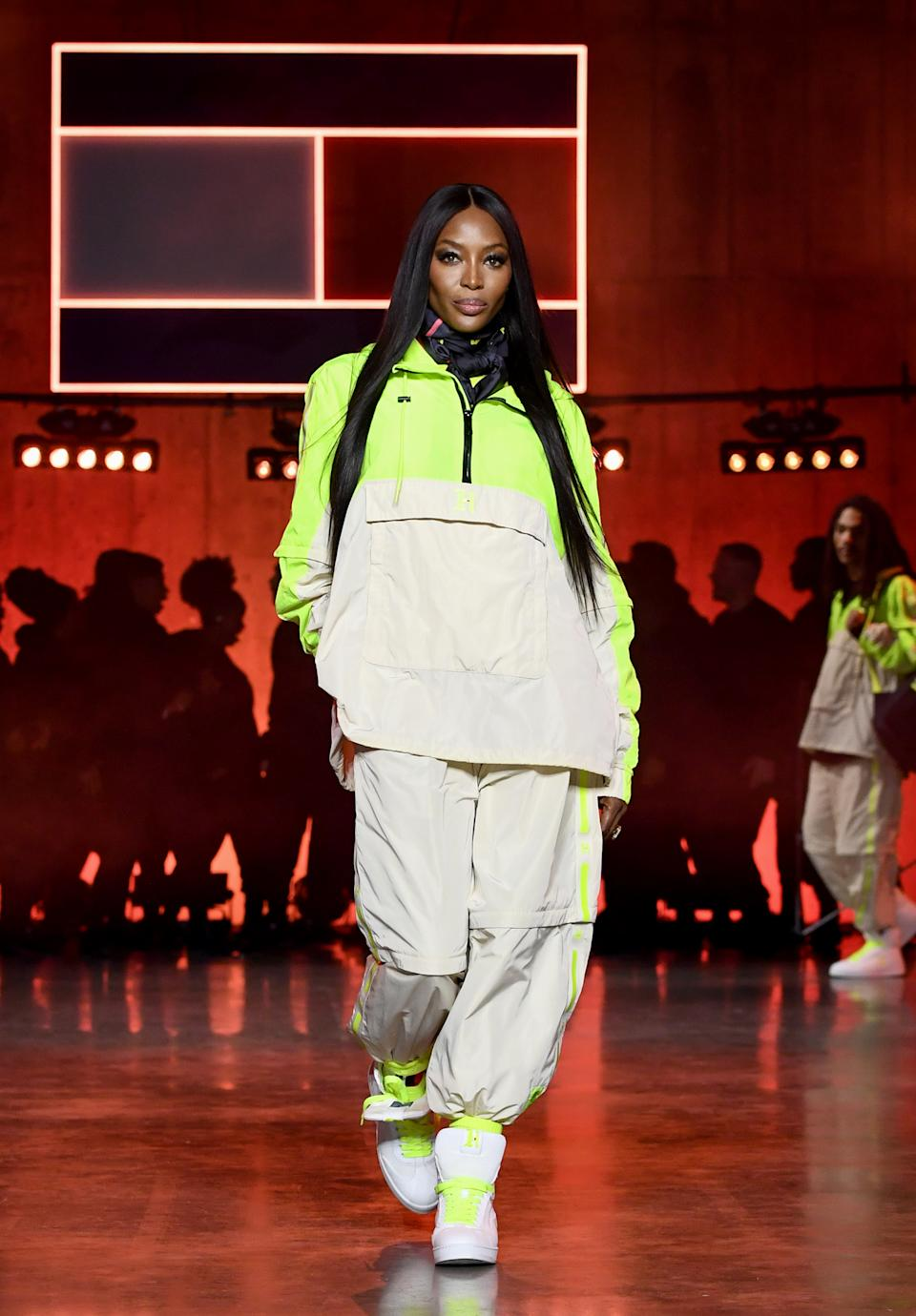 Naomi Campbell opened the Tommy Hilfiger show. (Getty Images)
