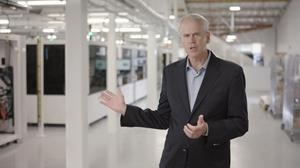 Harrold Rust, President and Chief Executive Officer of Enovix at the Enovix factory in Fremont, California
