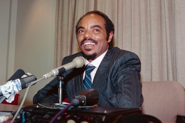 Meles Zenawi, pictured in June 1991. As chairman of the EPRDF, he had just become interim leader of Ethiopia following the ouster of the Derg dictatorship