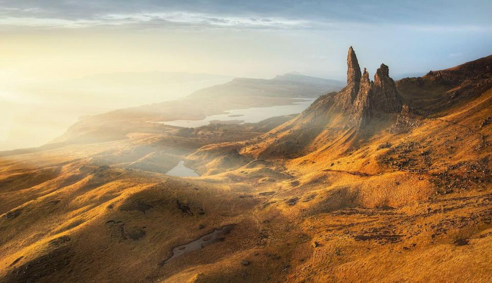 """<p>The Old Man of Storr <span class=""""redactor-invisible-space"""">is the highest rocky needle on the Isle of Skye. The flat area in front of the Old Man is known as the Sanctuary<span class=""""redactor-invisible-space"""">.</span></span></p>"""