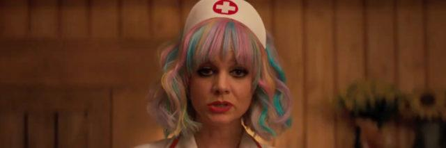 Cassie dressed as a nurse in Promising Young Woman