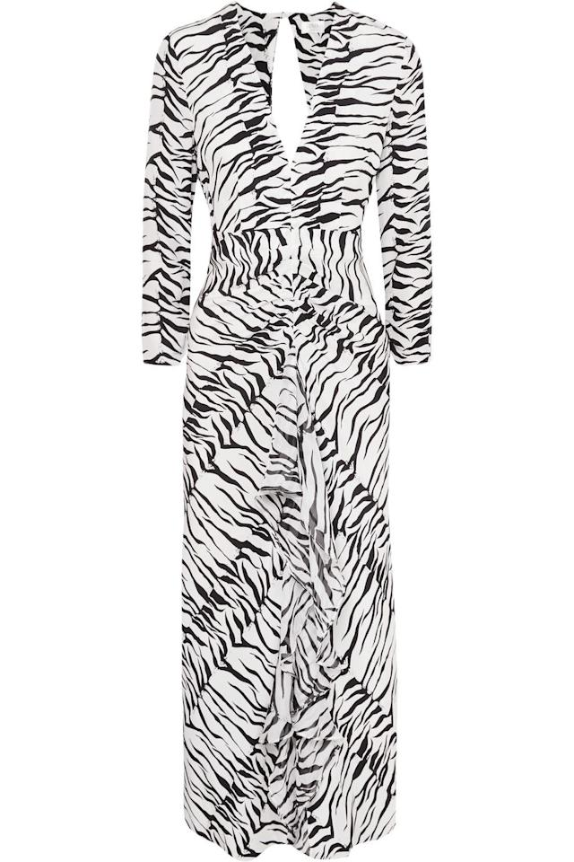 "<p><a class=""body-btn-link"" href=""https://www.net-a-porter.com/gb/en/product/1110739/rixo/rose-open-back-ruffled-animal-print-silk-maxi-dress"" target=""_blank"">SHOP NOW - 40% OFF</a></p><p>So much of what Rixo touches turns to 'It' status, like this ruffled zebra-print midi dress. Buy it now and wear it all year round – with  sandals in spring and knee boots come autumn.</p><p><em>Rose open-back ruffled animal-print silk maxi dress, Was £325, Now £195, Rixo at Net-a-porter</em></p>"