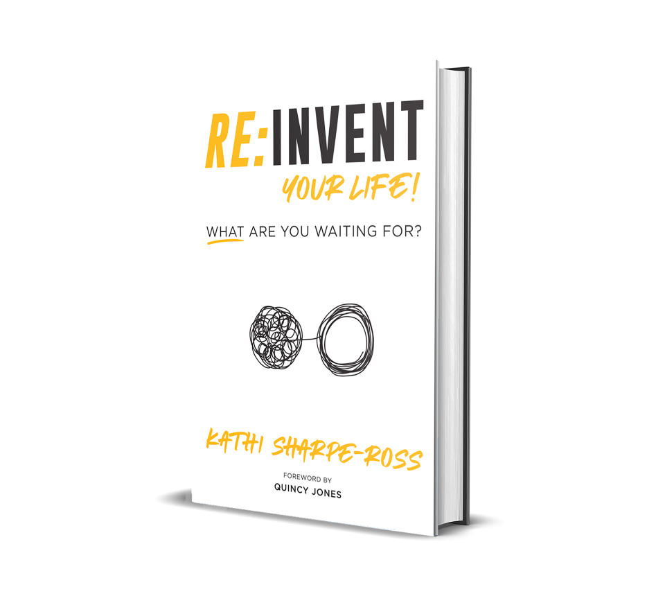 """This book cover image released by The Reinvention Exchange shows """"Re: Invent Your Life! What are waiting for?"""" The self-published, self-help guide includes 30 interviews with executives to artists on their a-ha moments. (The Reinvention Exchange via AP)"""