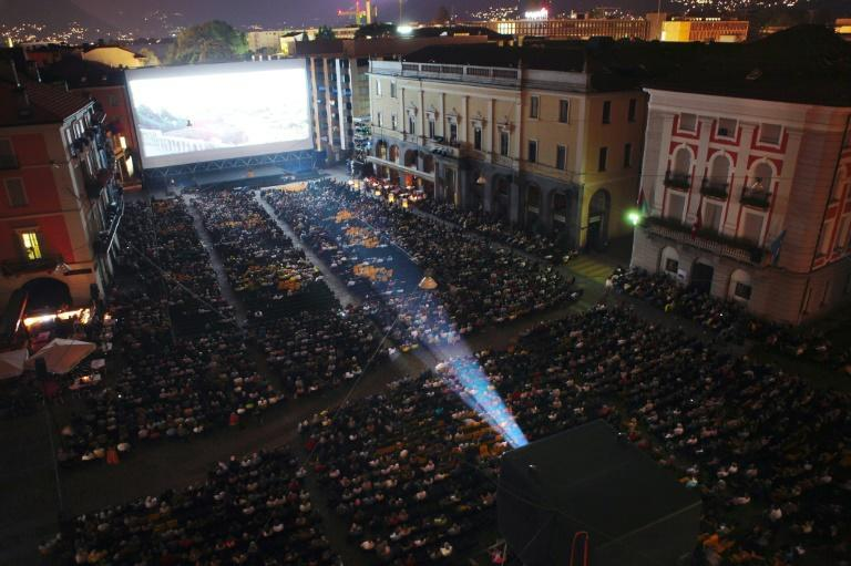 Films are screened in Locarno's central square before up to 8,000 people
