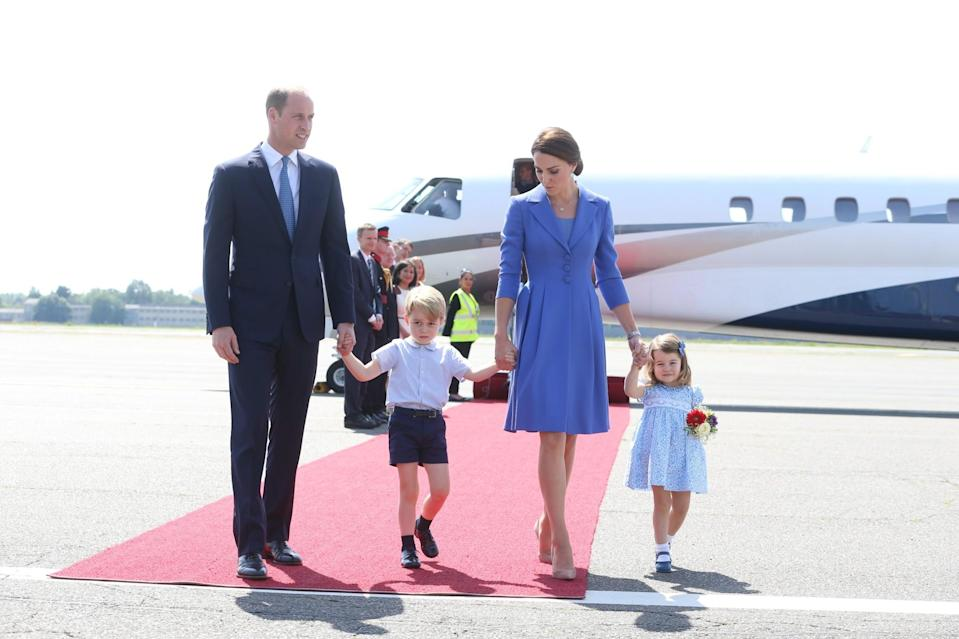 <p><b><b><b>The entire family touched down in Berlin for the second part of the tour. Prince George and Princess Charlotte were looking as cute as ever.<br><i>[Photo: PA]</i> </b></b></b></p>