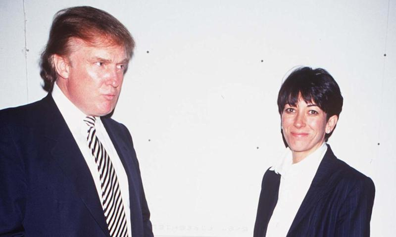 Donald Trump with Ghislaine Maxwell in New York in 1997