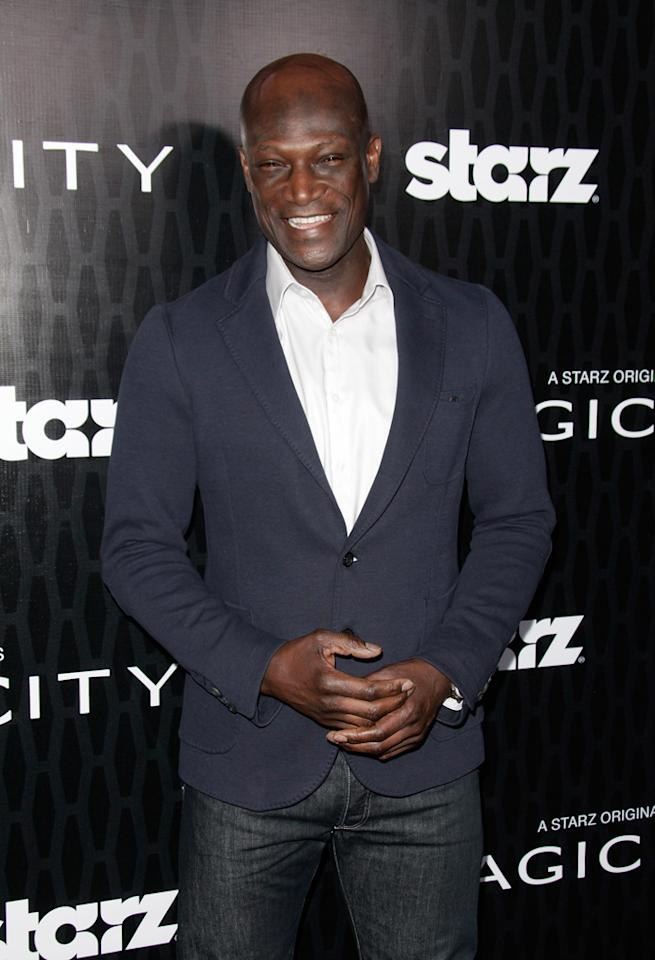 "Peter Mensah attends the Starz '<a target=""_blank"" href=""http://tv.yahoo.com/magic-city/show/46996"">Magic City</a>' Los Angeles Series Premiere at Directors Guild Of America on March 20, 2012 in Los Angeles, California."