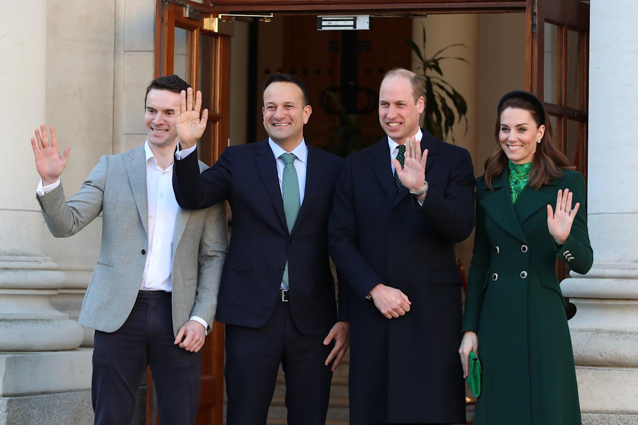 They met Taoiseach Leo Varadkar and his partner Matt Barrett.