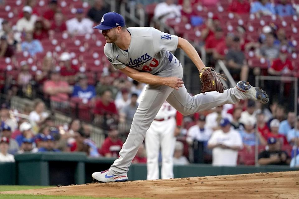 Dodgers pitcher Corey Knebel during the first inning against the St. Louis Cardinals Tuesday.