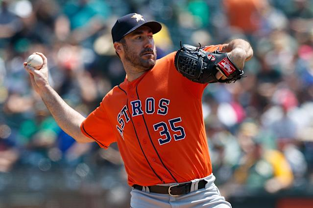 Justin Verlander got an expensive surprise on his check at the end of a meal at the Beverly Hills Hotel. (Photo by Jason O. Watson/Getty Images)