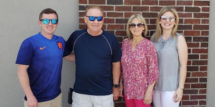 This was the last photo the family took together before Candace and Terry Ayers drove to Mississippi in July. From left to right: Marc Ayers, his parents Candace and Terry Ayers, and his sister Amanda. (Courtesy Marc Ayers)