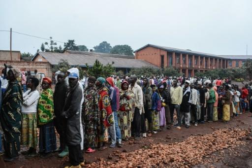 Hundreds of Burundians lined up for the vote in which they are merely asked to decide yes or no