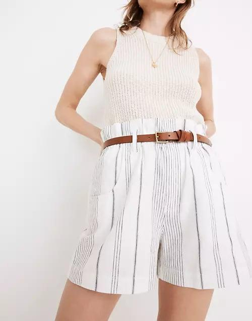<p>These <span>Madewell Linen-Cotton Pull-On Paperbag Shorts in Stripe</span> ($70) look especially chic with fitted tanks or bodysuits.</p>