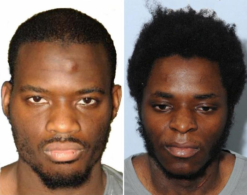 Michael Adebolajo (L) and Michael Adebowale (R) who were found guilty of the murder of British soldier Lee Rigby - Credit: AFP