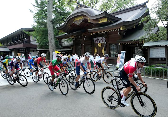 The pack en route to Mount Fuji (PA)