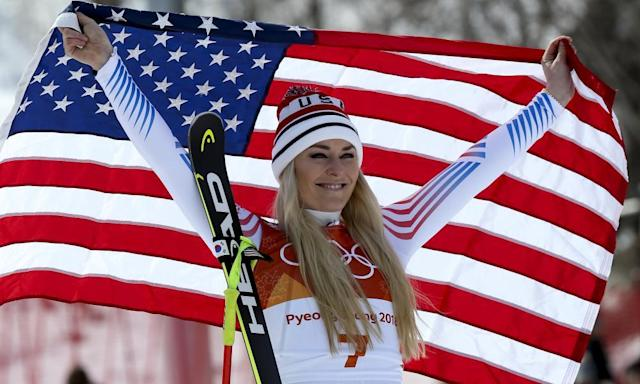 "<span class=""element-image__caption"">Lindsey Vonn was happy with her bronze medal.</span> <span class=""element-image__credit"">Photograph: Jean Catuffe/Getty Images</span>"