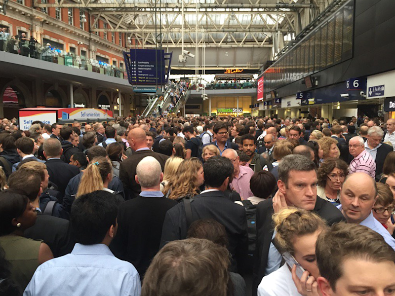 Commuters at Waterloo station could feel the hit (George Franks)