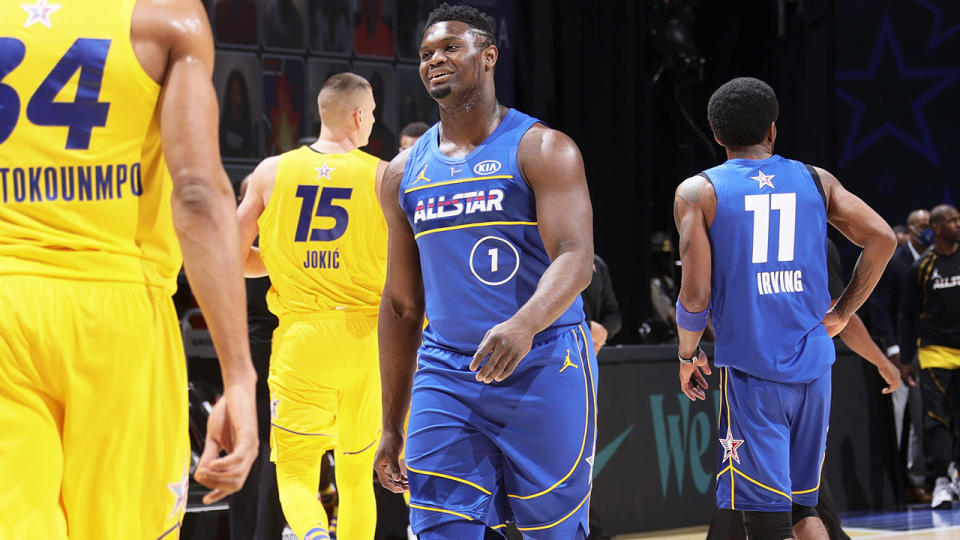 Zion Williamson, pictured here during the 70th NBA All-Star Game.