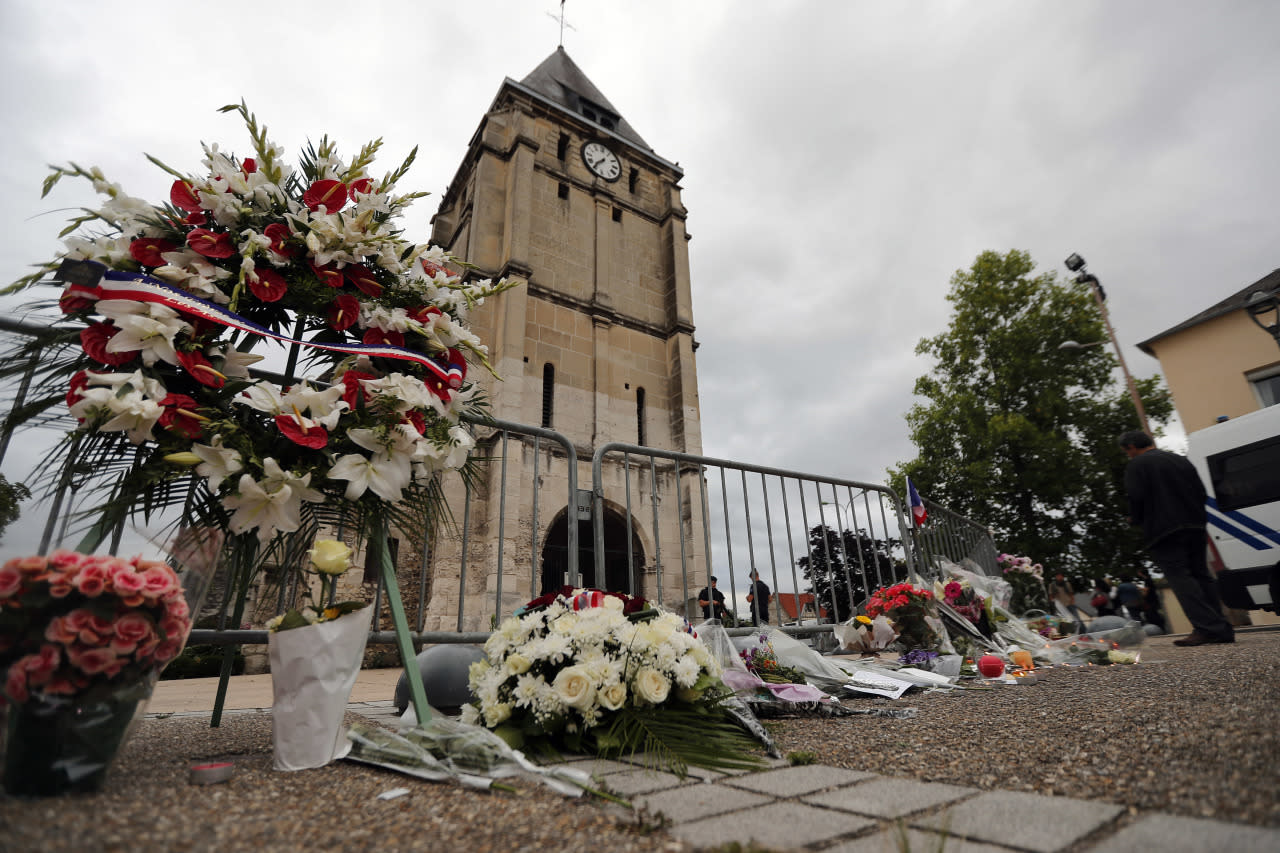 priest killed in attack at church in normandy france. Black Bedroom Furniture Sets. Home Design Ideas