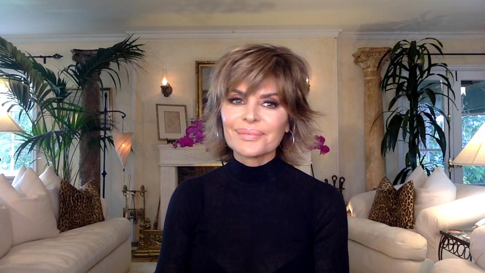 WATCH WHAT HAPPENS LIVE WITH ANDY COHEN @ HOME -- Episode 17091 -- Pictured in this screen grab: Lisa Rinna -- (Photo by: Bravo)