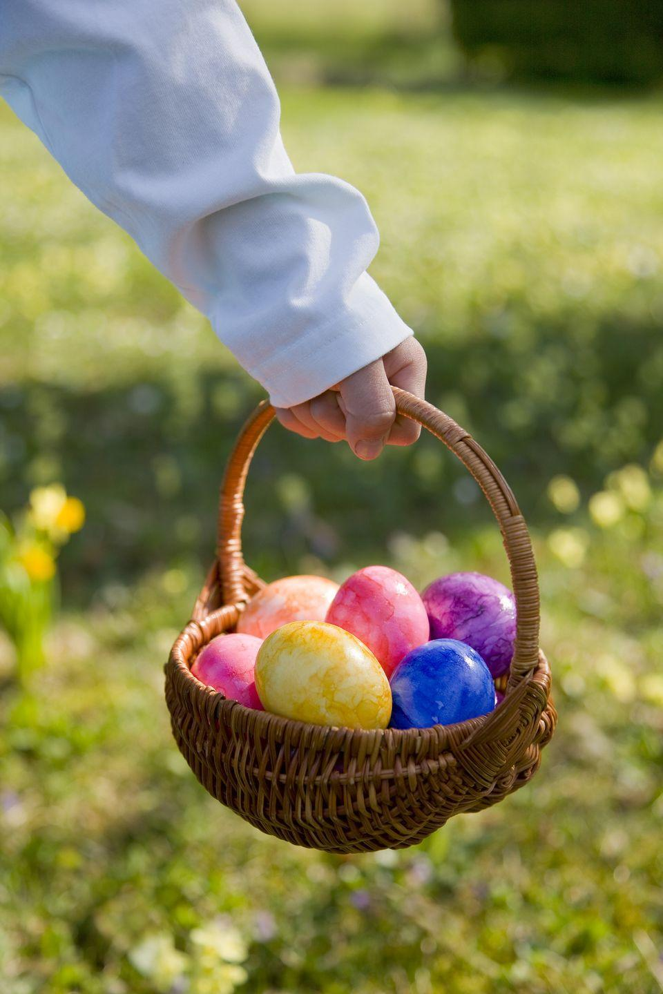 """<p>Lead your kids to the hidden eggs by creating a treasure map with clues that look like objects in your backyard. </p><p><strong>Get the tutorial at <a href=""""https://childhood101.com/literacy-spot-15-5-easter-egg-hunt-ideas/"""" rel=""""nofollow noopener"""" target=""""_blank"""" data-ylk=""""slk:Childhood 101"""" class=""""link rapid-noclick-resp"""">Childhood 101</a>.</strong></p><p><strong><strong><strong><a class=""""link rapid-noclick-resp"""" href=""""https://www.amazon.com/Prextex-Easter-Eggs-Assortment-288/dp/B06XFWF7JR/?tag=syn-yahoo-20&ascsubtag=%5Bartid%7C10050.g.4083%5Bsrc%7Cyahoo-us"""" rel=""""nofollow noopener"""" target=""""_blank"""" data-ylk=""""slk:SHOP EASTER EGGS"""">SHOP EASTER EGGS</a></strong></strong><br></strong></p>"""