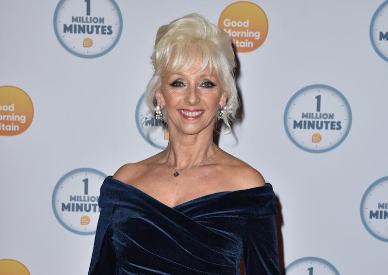 Debbie McGee attends the Good Morning Britain 1 Million Minutes Awards at Television Centre in London. (Photo by James Warren / SOPA Images/Sipa USA)