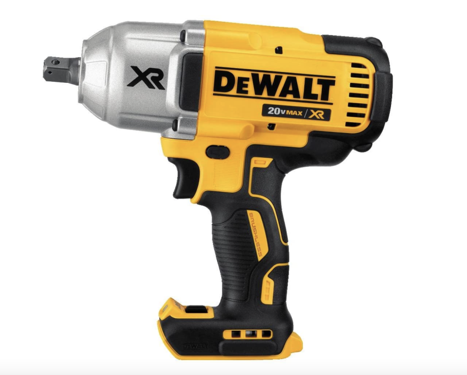 yellow, black, and silver DEWALT 20V MAX XR Cordless Impact Wrench