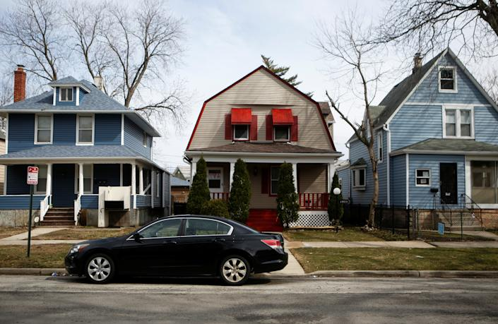 Houses in the Fifth Ward in Evanston, Illinois, U.S., March 18, 2021. (REUTERS/Eileen T. Meslar)