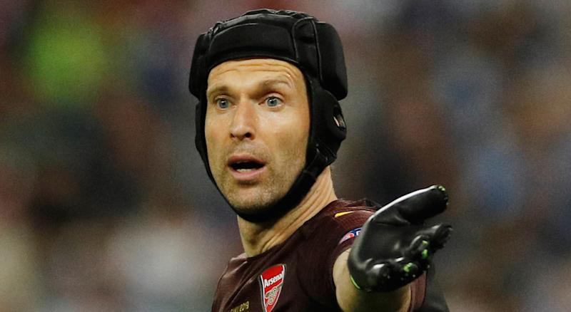 Former Chelsea and Arsenal standout goalkeeper Petr Cech will make his ice hockey debut with the Guildford Phoenix. (REUTERS/Phil Noble)