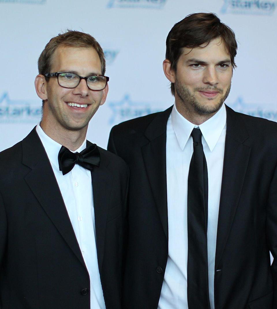 <p>We all know it's Ashton Kutcher on the right, but did you know he has a fraternal twin brother? Michael Kutcher, who has cerebral palsy and underwent a heart transplant as a 13-year-old, works at a sales company and does motivational speaking for young folks with disabilities.</p>