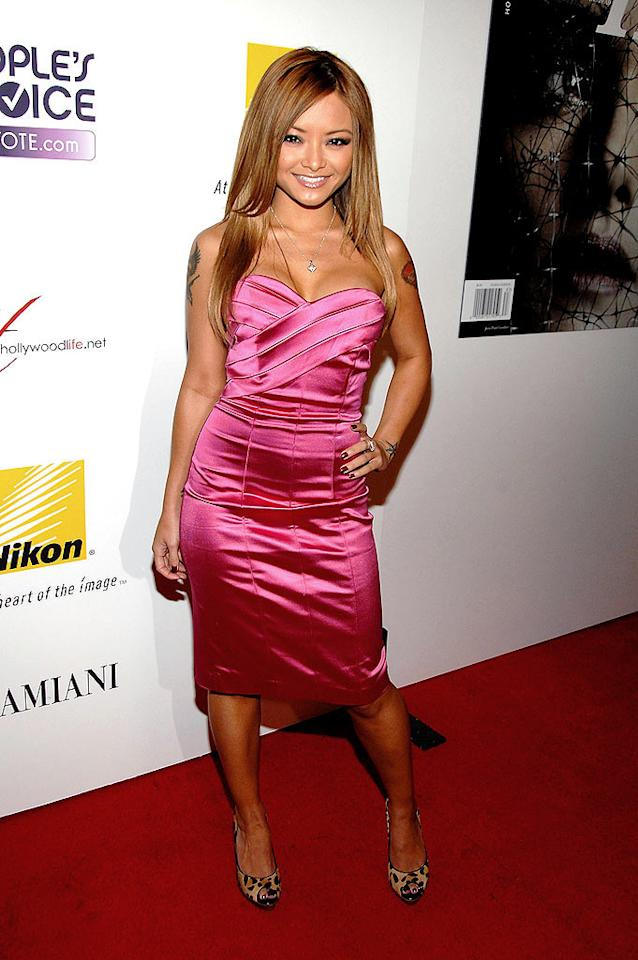 "Reality TV ""star"" Tila Tequila flaunts fashion flops on a regular basis, but she looks simply stunning in this strapless satin dress. John Shearer/<a href=""http://www.wireimage.com"" target=""new"">WireImage.com</a> - October 12, 2008"