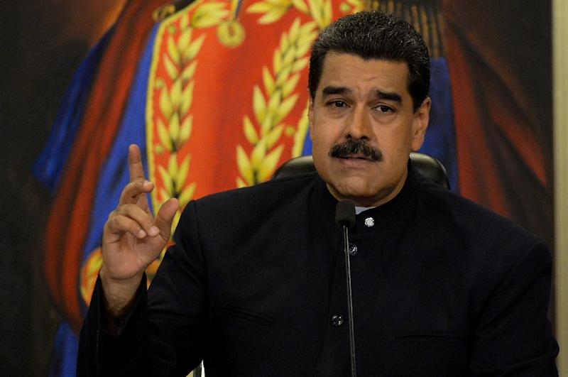 Venezuelan President Nicolas Maduro plans to seek reelection in the 2018 presidential race, in which he said leading opposition parties will not be allowed to participate
