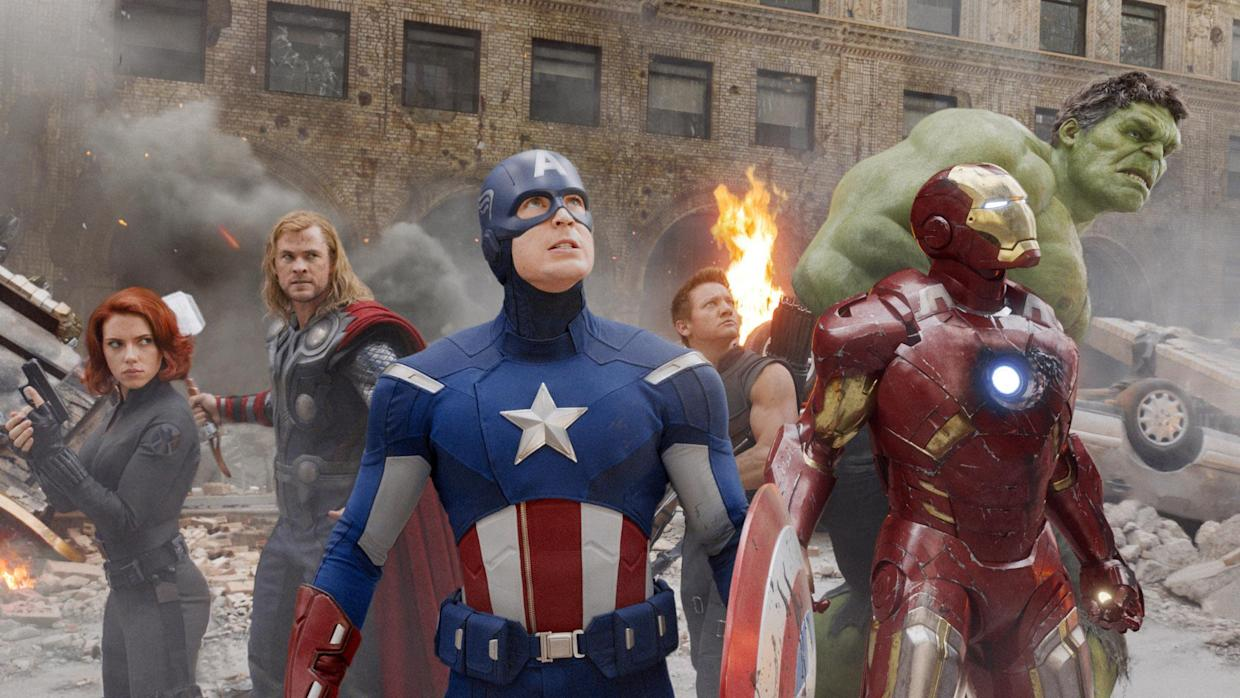 The Avengers assemble for the first time in the 2012 blockbuster 'The Avengers' (Photo: ©Walt Disney Co./Courtesy Everett Collection)
