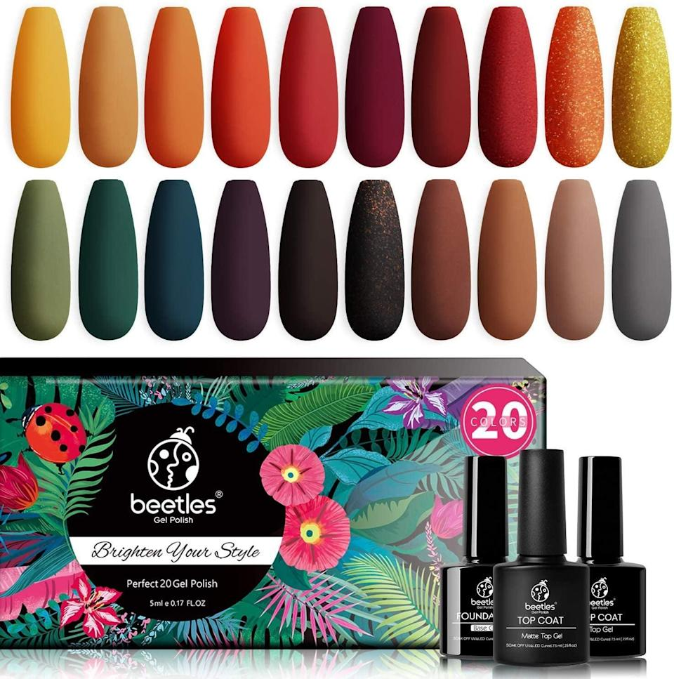 <p><span>Beetles 23 Pcs Gel Nail Polish Kit</span> ($22, originally $28)</p>