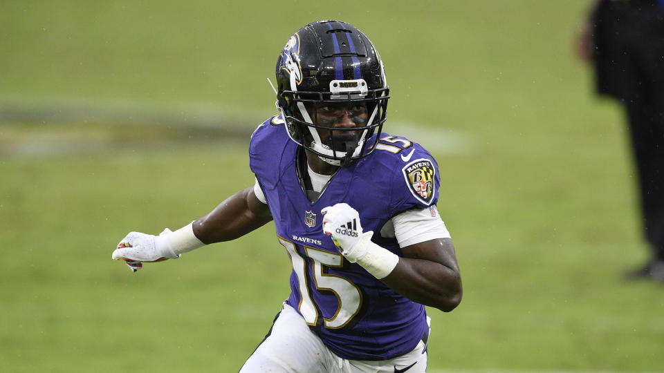 Baltimore Ravens wide receiver Marquise Brown (15)