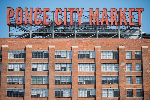 The Ponce City Market sign in Atlanta.