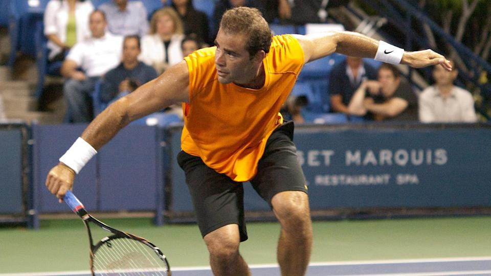 """<p><span>Andre Agassi's greatest career rival was Pete Sampras, who beat Agassi just 28 days after his 19th birthday to become history's youngest US Open men's singles champion. His 14 major championships include seven Wimbledon titles and five US Open titles, both of which put him in a tie for the most of all time for those tournaments. His 14 victories in 18 finals — 78% — represent the best percentage in history. All in all, Pete Sampras won 66 career titles — five more than Agassi.</span></p> <p><a href=""""https://www.gobankingrates.com/net-worth/sports/what-is-pete-sampras-net-worth/?utm_campaign=1130237&utm_source=yahoo.com&utm_content=33&utm_medium=rss"""" rel=""""nofollow noopener"""" target=""""_blank"""" data-ylk=""""slk:See what his net worth adds up to."""" class=""""link rapid-noclick-resp"""">See what his net worth adds up to.</a></p> <div class=""""listicle--slide""""> <div class=""""listicle--slide--content""""> <p><em><strong>Making Money Outside the Game: <a href=""""https://www.gobankingrates.com/net-worth/sports/athletes-got-rich-something-other-than-sports/?utm_campaign=1130237&utm_source=yahoo.com&utm_content=34&utm_medium=rss"""" rel=""""nofollow noopener"""" target=""""_blank"""" data-ylk=""""slk:Athletes Who Got Rich for Something Other Than Sports"""" class=""""link rapid-noclick-resp"""">Athletes Who Got Rich for Something Other Than Sports</a></strong></em></p> </div> </div> <p><small>Image Credits: Photo Works / Shutterstock.com</small></p>"""