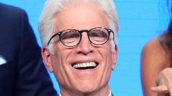 BEVERLY HILLS, CA - AUGUST 02: Actor Ted Danson speaks onstage at 'The Good Place' panel discussion during the NBCUniversal portion of the 2016 Television Critics Association Summer Tour at The Beverly Hilton Hotel on August 2, 2016 in Beverly Hills, California. (Photo by Frederick M. Brown/Getty Images)