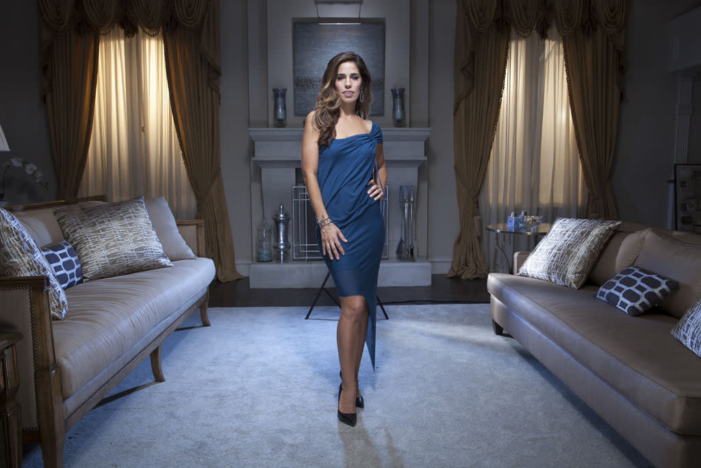 "Ana Ortiz in the Lifetime series ""Devious Maids."""
